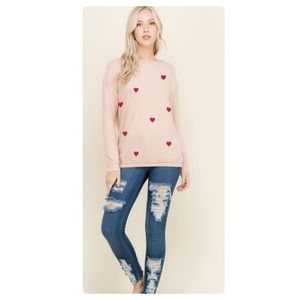 Tops - VAL Heart Sweatshirt